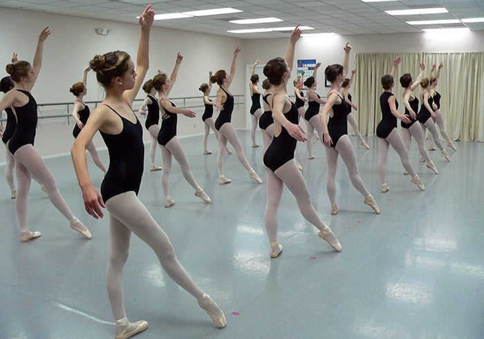Ballet class session